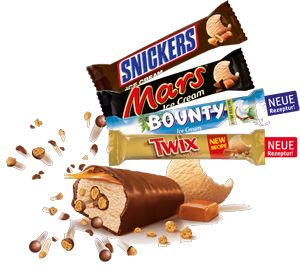 Mars Snickers Twix Bounty